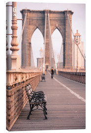 Lærredsbillede  Bank on the Brooklyn Bridge - Amanda Hall