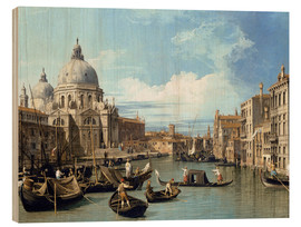 Print på træ  The Entrance to the Grand Canal, Venice - Bernardo Bellotto (Canaletto)