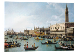 Akrylbillede  Venice: The Basin of San Marco on Ascension Day - Bernardo Bellotto (Canaletto)