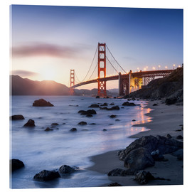 Akrylbillede  San Francisco Golden Gate Bridge - Jan Christopher Becke
