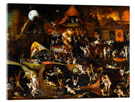 Akrylbillede  The harrowing of hell - Hieronymus Bosch
