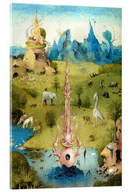 Akrylbillede  Garden of Earthly Delights, the paradise (detail) - Hieronymus Bosch