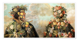Premium-plakat  A anthropomorphosic profile of a man and a woman - Giuseppe Arcimboldo