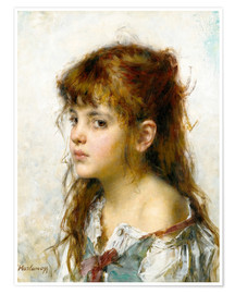 Premium-plakat Portrait of a young Girl
