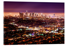 Akrylbillede  Los Angeles at night - Daniel Heine