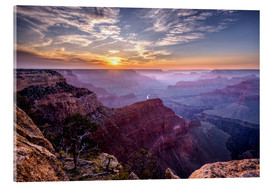 Akrylbillede  Sunset at Grand Canyon - Daniel Heine