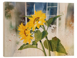 Print på træ  Sunflowers - Franz Heigl