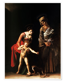 Premium-plakat  Madonna with the Serpent - Michelangelo Merisi (Caravaggio)