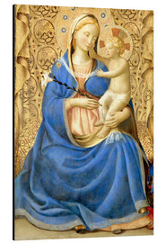 Print på aluminium  Madonna with Child - Fra Angelico