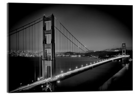 Akrylbillede  Golden Gate Bridge in the Evening - Melanie Viola