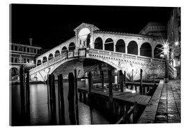 Akrylbillede  VENICE Rialto Bbridge at Night - Melanie Viola