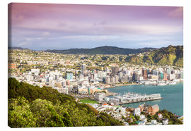 Lærredsbillede  Wellington in the morning, New Zealand - Matteo Colombo