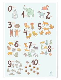 Premium-plakat  Animal numbers for the nursery - Petit Griffin