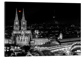 Akrylbillede  Blutmond over the Cologne Cathedral - rclassen