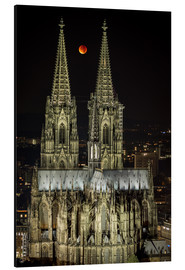 Print på aluminium  Blood moon shines over Cologne Cathedral - rclassen