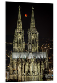 Print på skumplade  Blood moon shines over Cologne Cathedral - rclassen