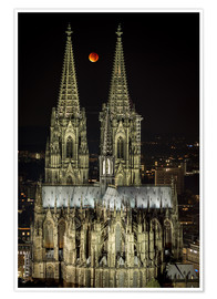 Premium-plakat  Blood moon shines over Cologne Cathedral - rclassen
