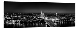 Akrylbillede  Panorama of the Cologne skyline, Germany - rclassen
