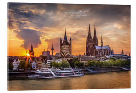 Akrylbillede  Cologne Cathedral and Great St Martin - Jens Korte