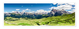 Premium-plakat Seiser Alm panoramic view, South Tyrol