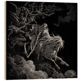 Print på træ  The Vision of Death - Gustave Doré