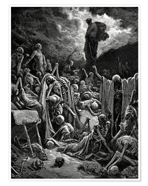 Premium-plakat  The Vision of The Valley of The Dry Bones - Gustave Doré
