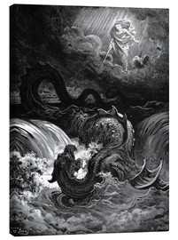 Lærredsbillede  The Destruction of Leviathan - Gustave Doré
