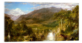 Akrylbillede  Heart of the Andes - Frederic Edwin Church