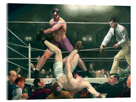 Akrylbillede  Dempsey and Firpo - George Wesley Bellows