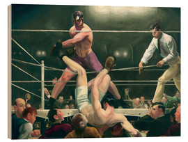 Print på træ  Dempsey and Firpo - George Wesley Bellows