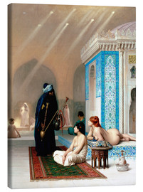 Lærredsbillede  Bath in the harem - Jean Leon Gerome