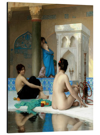 Print på aluminium  After the Bath - Jean Leon Gerome