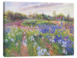 Lærredsbillede  Field of flowers - Timothy Easton