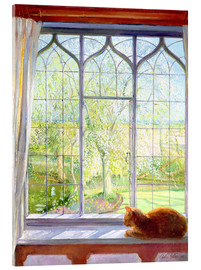 Akrylbillede  Cat in window in spring - Timothy Easton