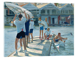 Akrylbillede  Preparation for rowing - Timothy Easton