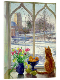 Akrylbillede  Snow Shadows and Cat - Timothy Easton