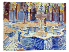 Akrylbillede  The blue fountain - Lucy Willis
