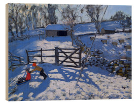 Print på træ  Farm at Elton, near Rowsley - Andrew Macara