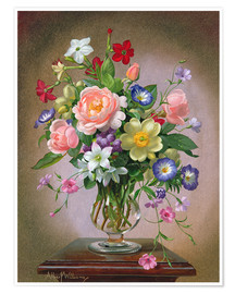 Premium-plakat  Roses, Peonies and Freesias - Albert Williams