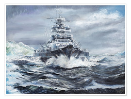 Premium-plakat  Bismarck off the Greenland coast - Vincent Alexander Booth