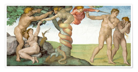 Premium-plakat Sistine Chapel: The Fall and the Expulsion from Paradise