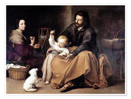 Premium-plakat The Holy Family with the Little Bird