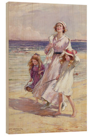 Print på træ  A Breezy Day at the Seaside - William Kay Blacklock
