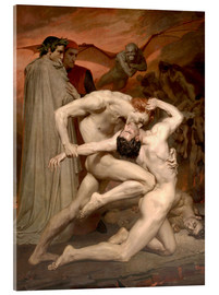 Akrylbillede  Dante and Virgile - William Adolphe Bouguereau