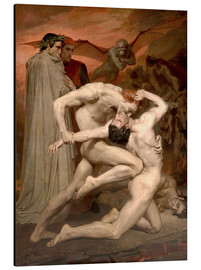 Print på aluminium  Dante and Virgile - William Adolphe Bouguereau
