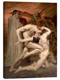 Lærredsbillede  Dante and Virgile - William Adolphe Bouguereau