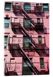 Akrylbillede  Fire escapes in Manhattan - Dosfotos