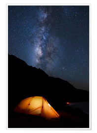 Premium-plakat Tent and starry sky