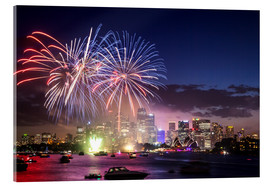 Akrylbillede  New Year's Eve in Sydney - Matteo Colombo