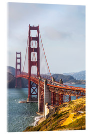 Akrylbillede  Golden Gate Bridge in San Francisco - Leah Bignell